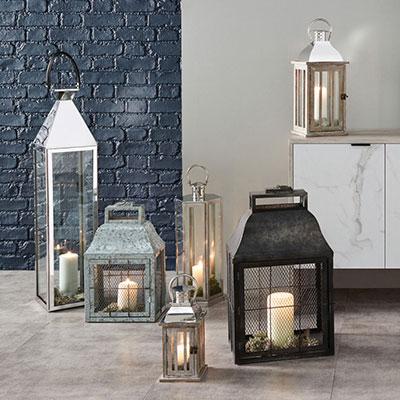 Lanterns, Hurricanes & Candle Holders