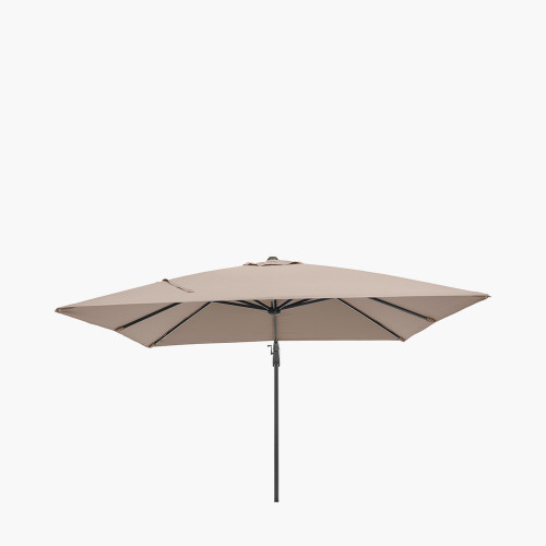 Glow Challenger T2 3m Square Taupe Parasol