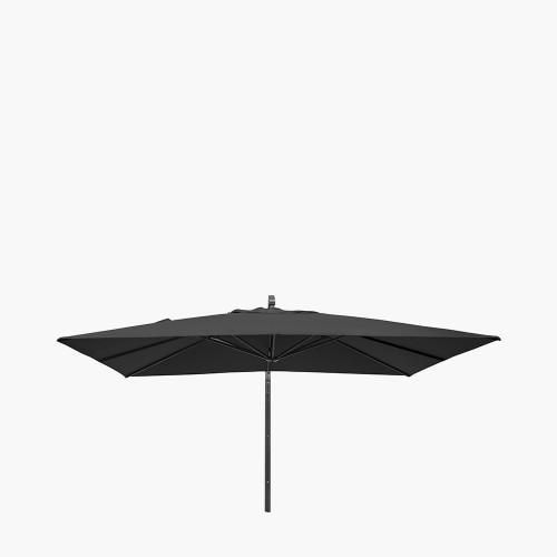 Icon Premium 4mx3m Oblong Faded Black Parasol