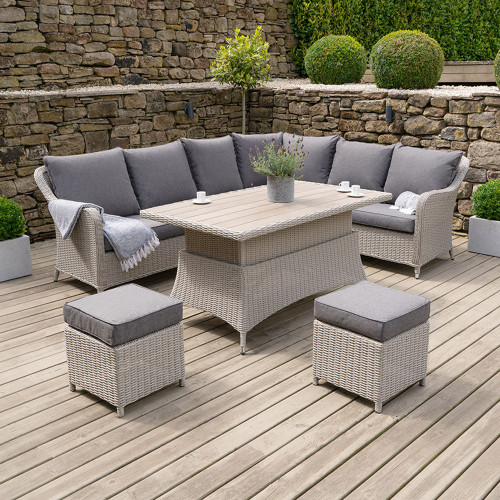 Stone Grey Antigua Corner Set Polywood Top