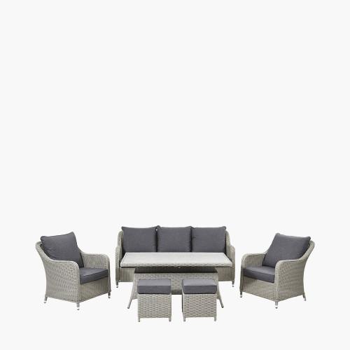Stone Grey Antigua Lounge Set Ceramic Top