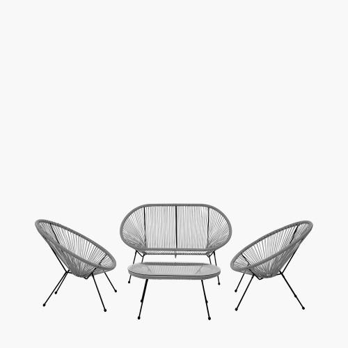 Grey PU Rio 4 Piece Seating Set