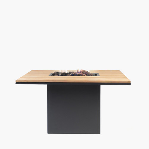 Cosiloft 120 Relaxed Dining Black and Teak