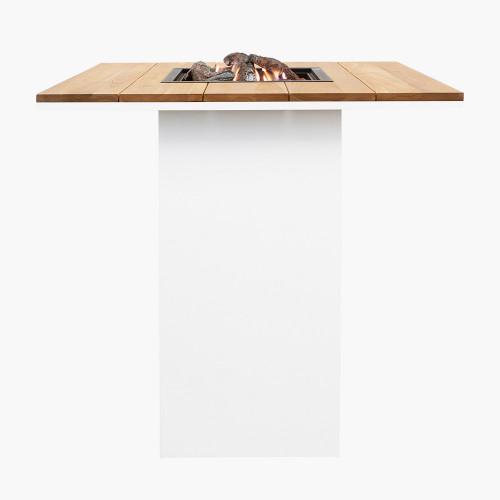 Cosiloft 100 Bar Table White and Teak