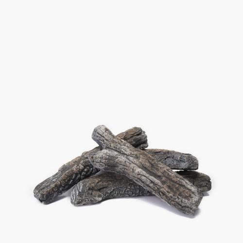 Ceramic Wood Effect Logs 4 Pieces