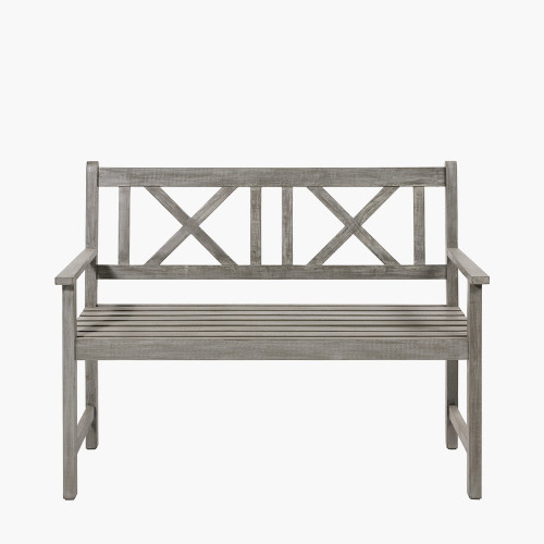Antique Grey Acacia Wood Bench