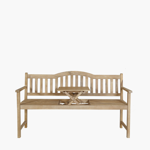 Richmond Light Teak Acacia Wood Pop Up Bench
