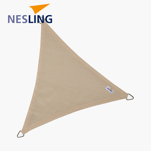 5m Triangle Shade Sail Off-White