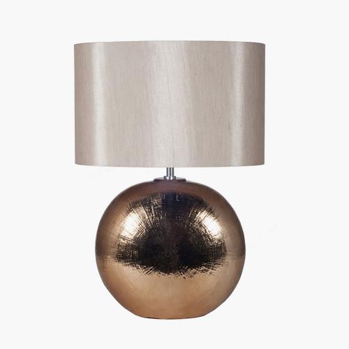 Bronze Textured Ceramic Table Lamp
