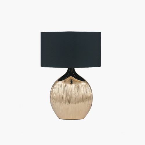 Gold Etched Ceramic Table Lamp