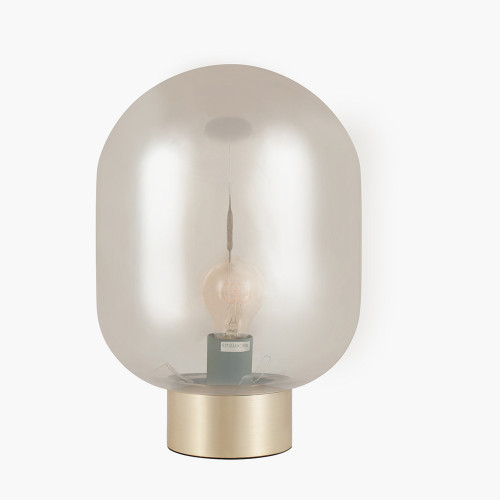 Lustre Glass Ball and Gold Table Lamp