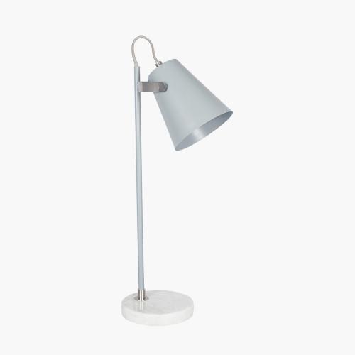 Grey and Satin Nickel Task Table Lamp