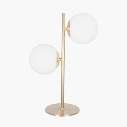 White Orb and Gold Metal Table Lamp
