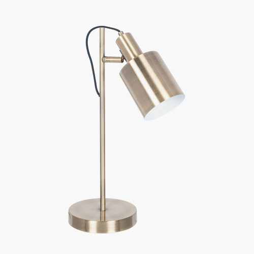 Antique Brass Metal Task Table Lamp