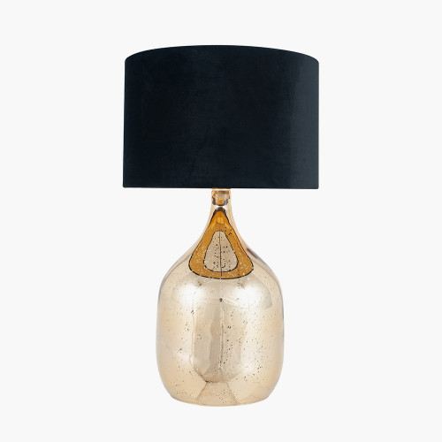 Champagne Gold Glass Dual Light Table lamp