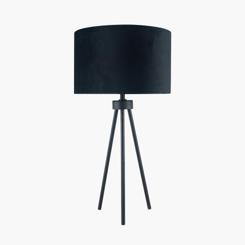 Matt Black Metal Tripod Table Lamp