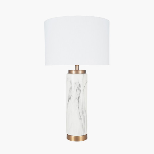 Marble Effect Ceramic Tall Table Lamp