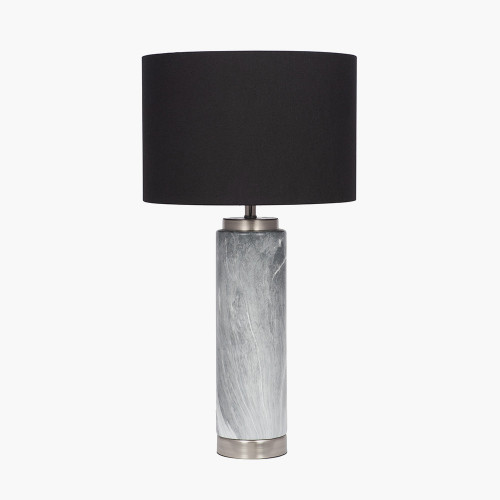 Grey Marble Effect Tall Ceramic Table Lamp