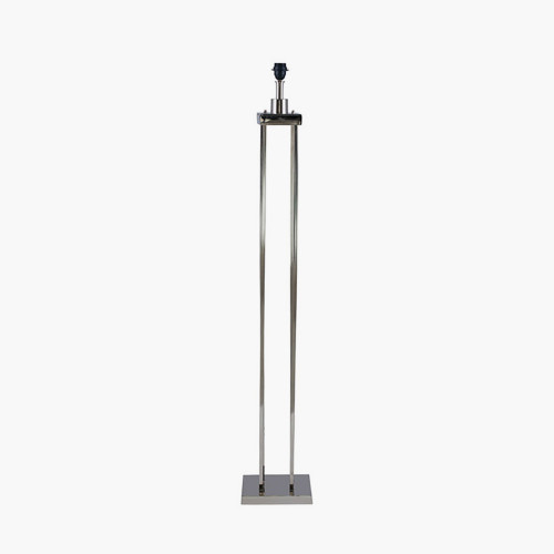 Nickel 4 Post Floor Lamp