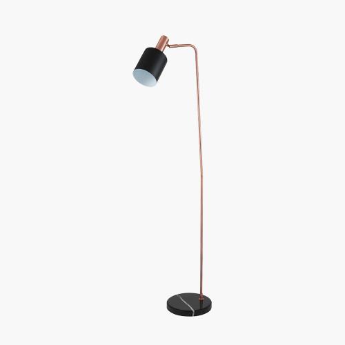 Black and Antique Copper Task Floor Lamp
