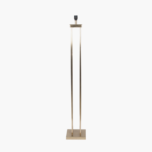 Satin Brass Metal 4 Post Floor Lamp