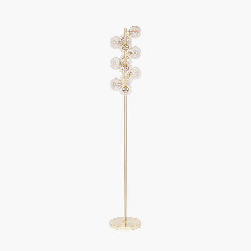 Lustre Glass Ball and Gold Floor Lamp