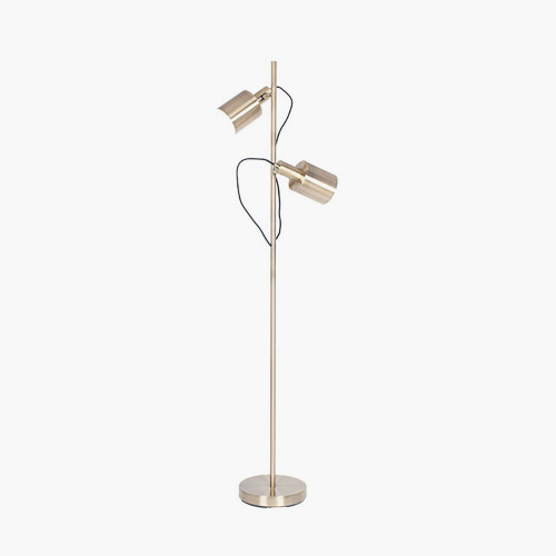 Antique Brass Metal Task Floor Lamp