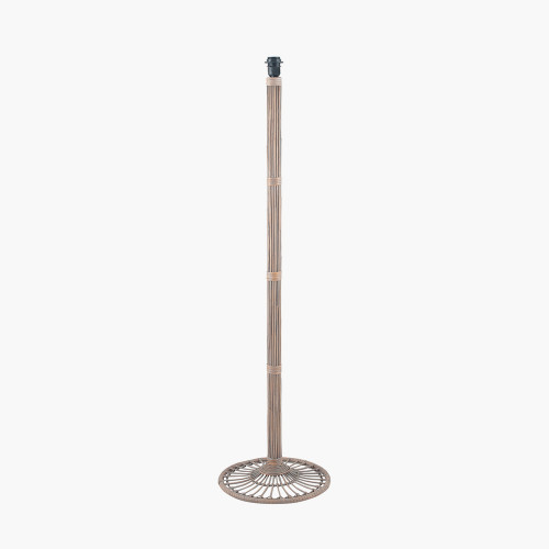 Grey Wash Rattan Candlestick Floor Lamp