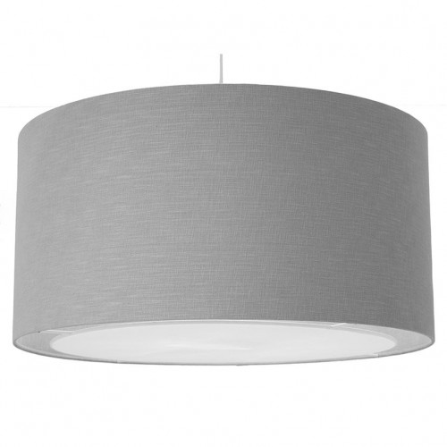 60cm Grey Linen Easy Fit Pendant with Diffuser