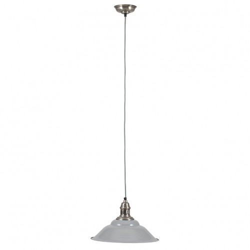 Grey and Silver Metal Cafe Pendant