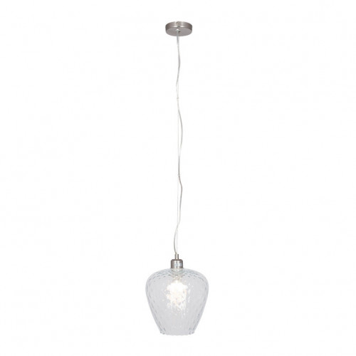 Textured Clear Glass Electrified Pendant
