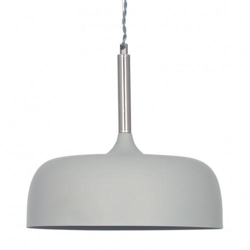 Matt Grey Domed Metal Pendant
