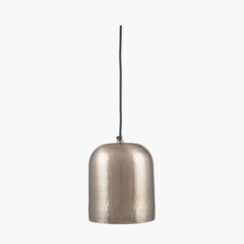 Antique Brass Metal Hammered Dome Pendant