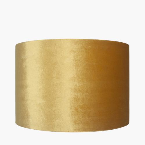 25cm Mustard Velvet Cylinder Shade