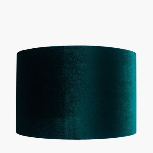30cm Forest Green Velvet Cylinder Shade