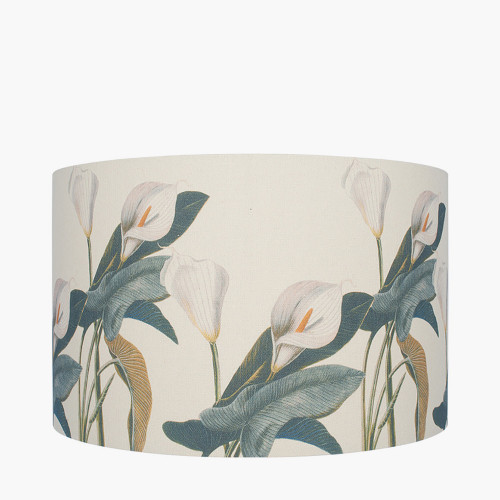 30cm Jenny Worrall Arum Lily Linen Cylinder Shade