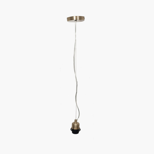 Champagne Contemporary Electrified Fitting