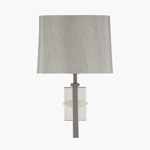 Satin Silver Metal Wall Light