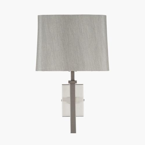 Satin Silver Metal Wall Light