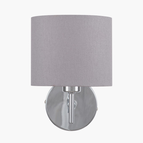 Silver Metal Straight Arm Wall Light