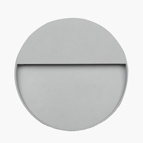 Grey Round Diffused Outdoor Wall Light