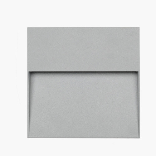 Grey Square Diffused Outdoor Wall Light