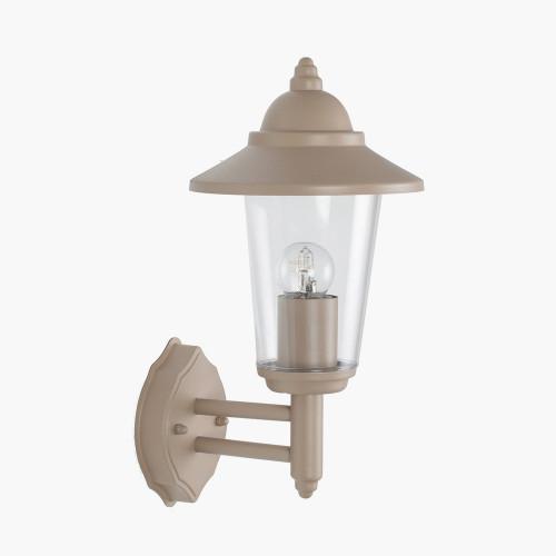 Taupe Metal Lantern Wall Light