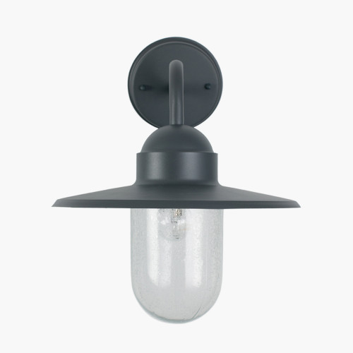 Dark Grey Metal and Glass Fisherman Wall Light