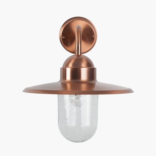Copper Metal and Glass Fisherman Wall Light