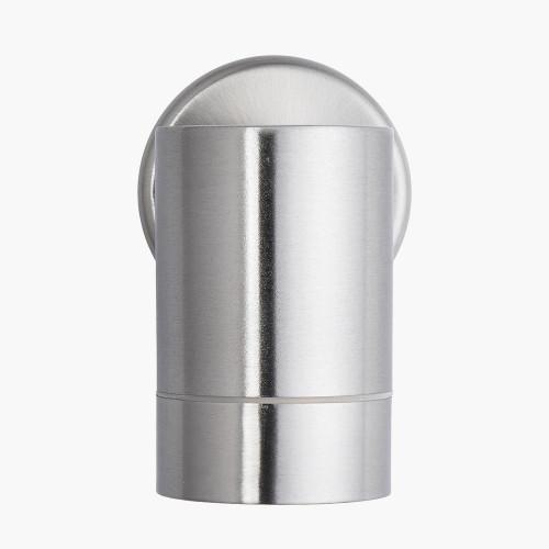 Brushed Steel Metal Fixed Spot Wall Light