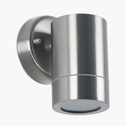 Brushed Steel Metal Fixed Spot Wall Light