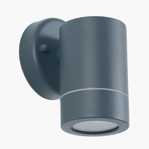 Dark Grey Metal Fixed Spot Wall Light