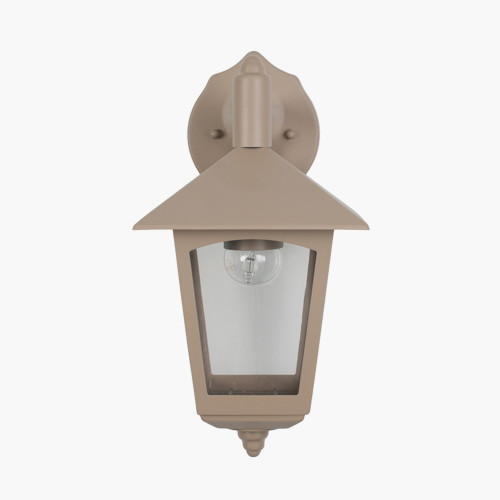 Taupe Metal Lantern Wall Light