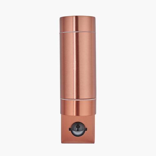 Copper Metal Dual PIR Wall Light